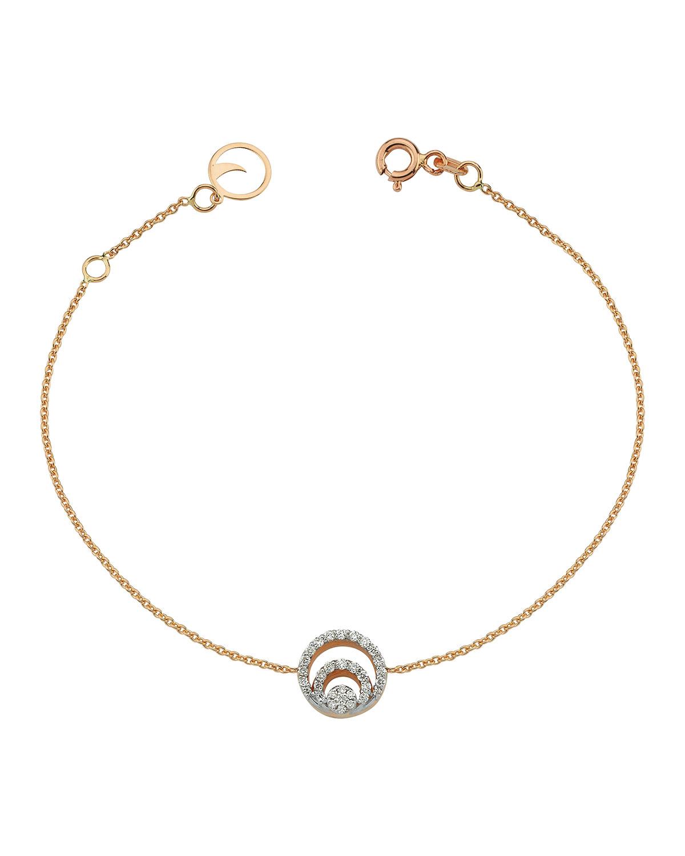 14k Rose Gold Chintamani Pave Diamond Chain Bracelet