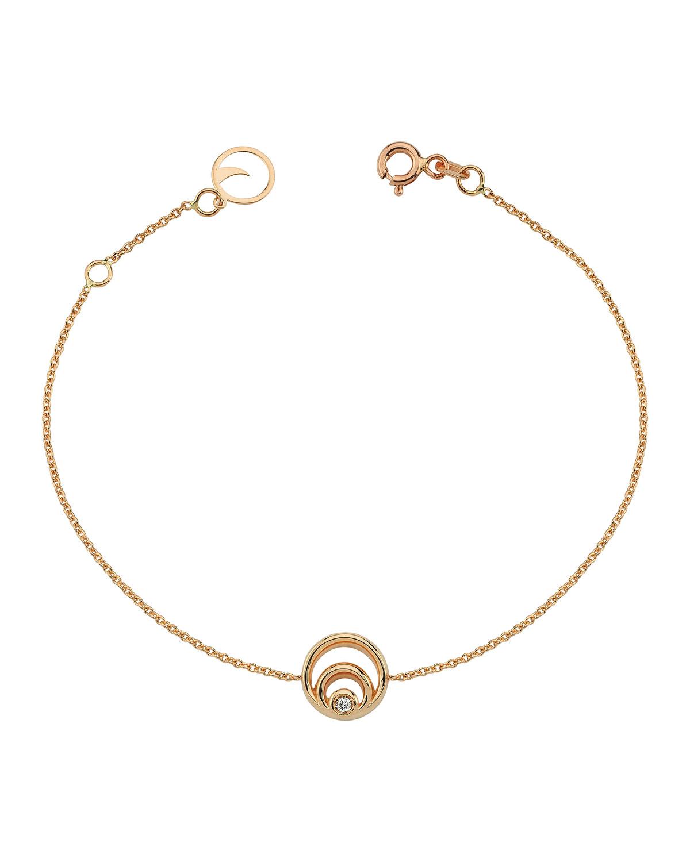 14k Rose Gold Chintamani One-Diamond Chain Bracelet