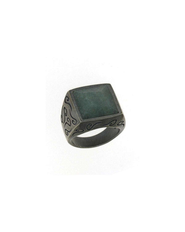 Men's Ara Square Aventurine Ring