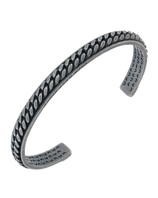 Men's Lash Silver Chain Kick Cuff Bracelet