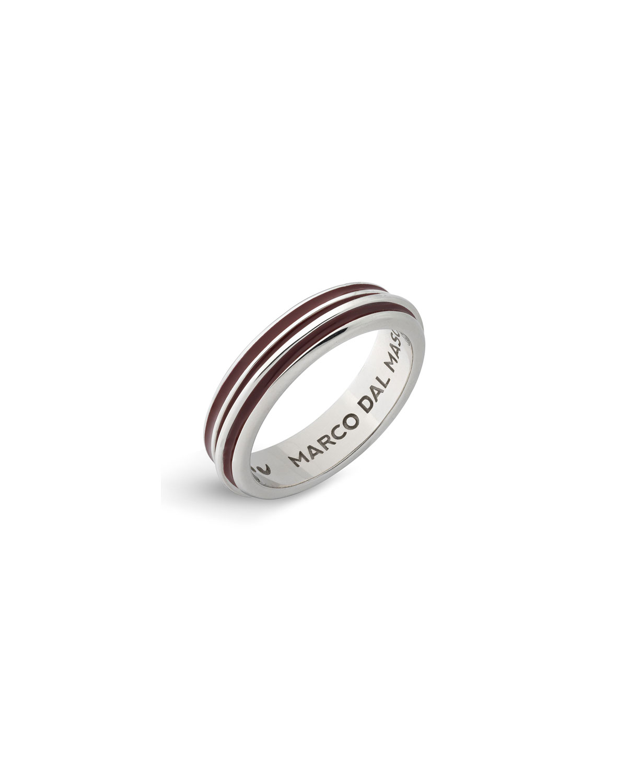 Men's Acies Enameled Sterling Silver Ring