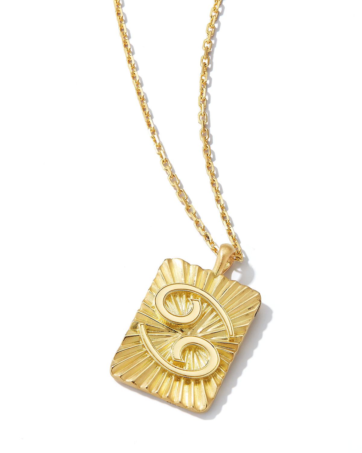 Cancer Zodiac Pendant Necklace in 18k Gold