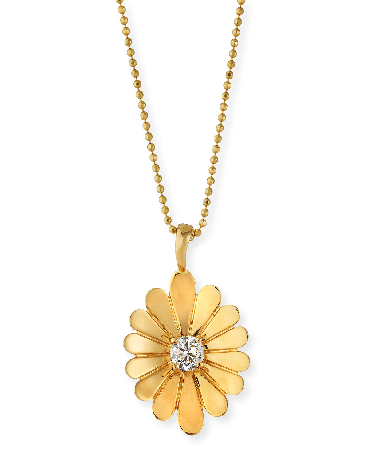 18K Water Lily Pendant Necklace