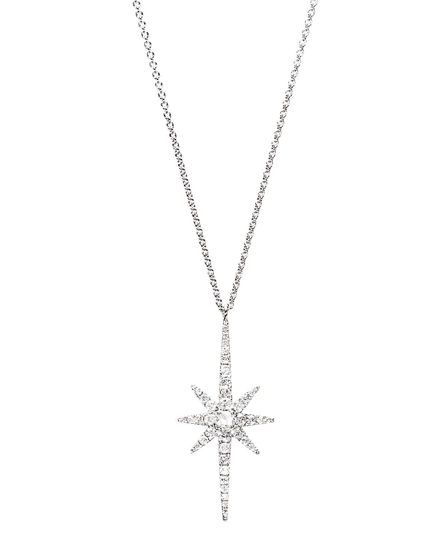 18k White Gold Diamond Starburst Necklace