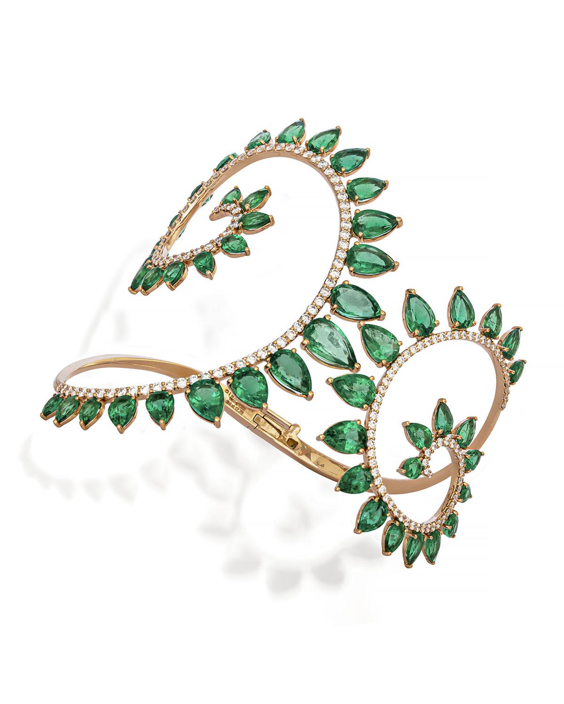 Genesi Emerald and Diamond Bracelet