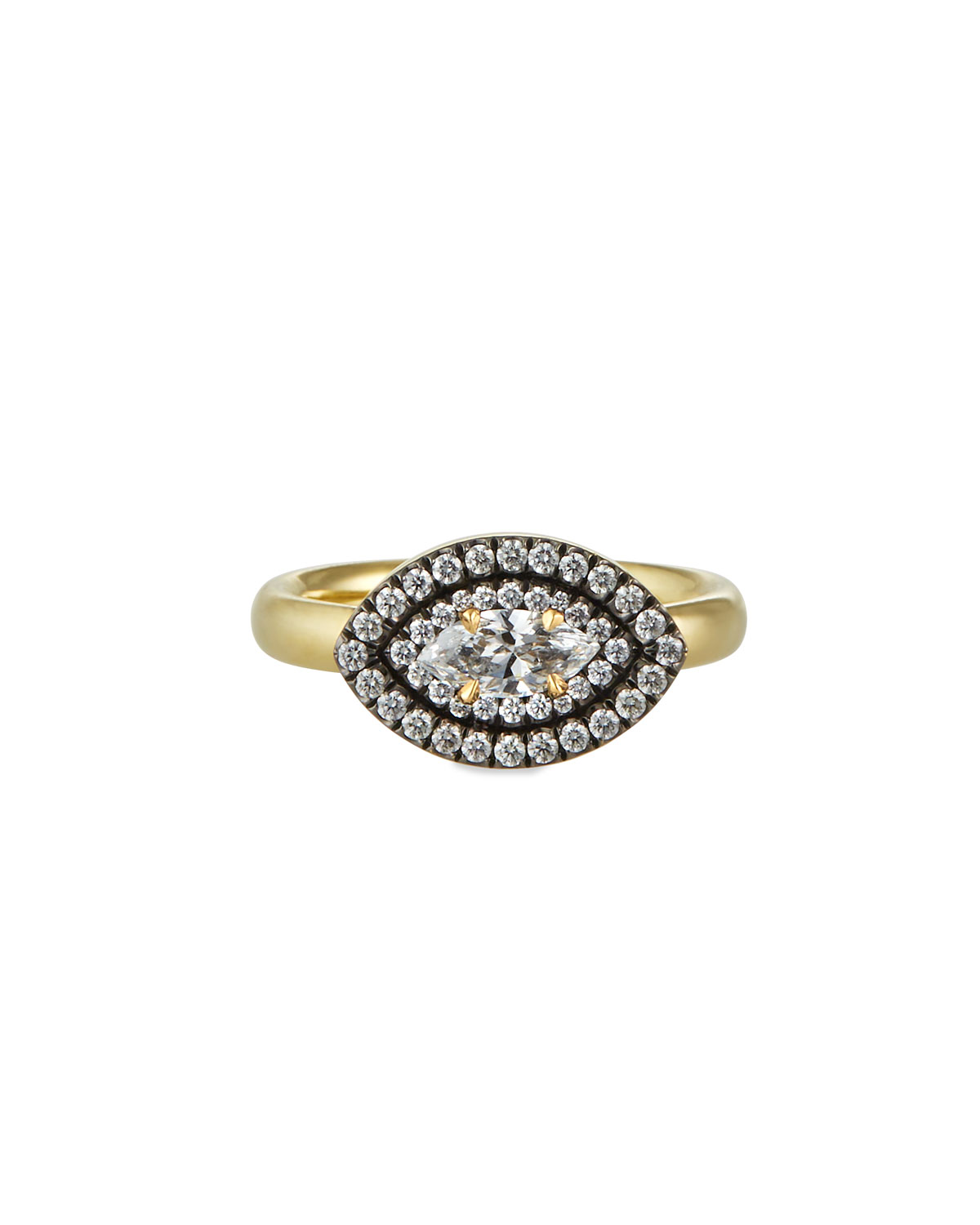 Prive Gold Marquise Diamond Ring
