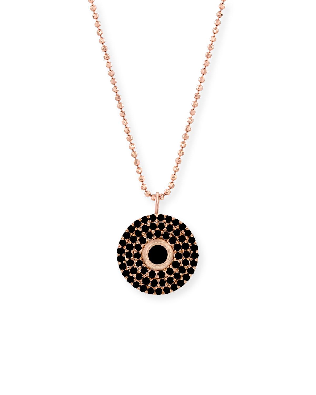 18k Rose Gold Black Diamond Carrie Necklace