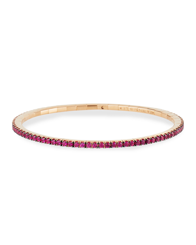 18k Rose Gold Ruby Stretch Tennis Bracelet