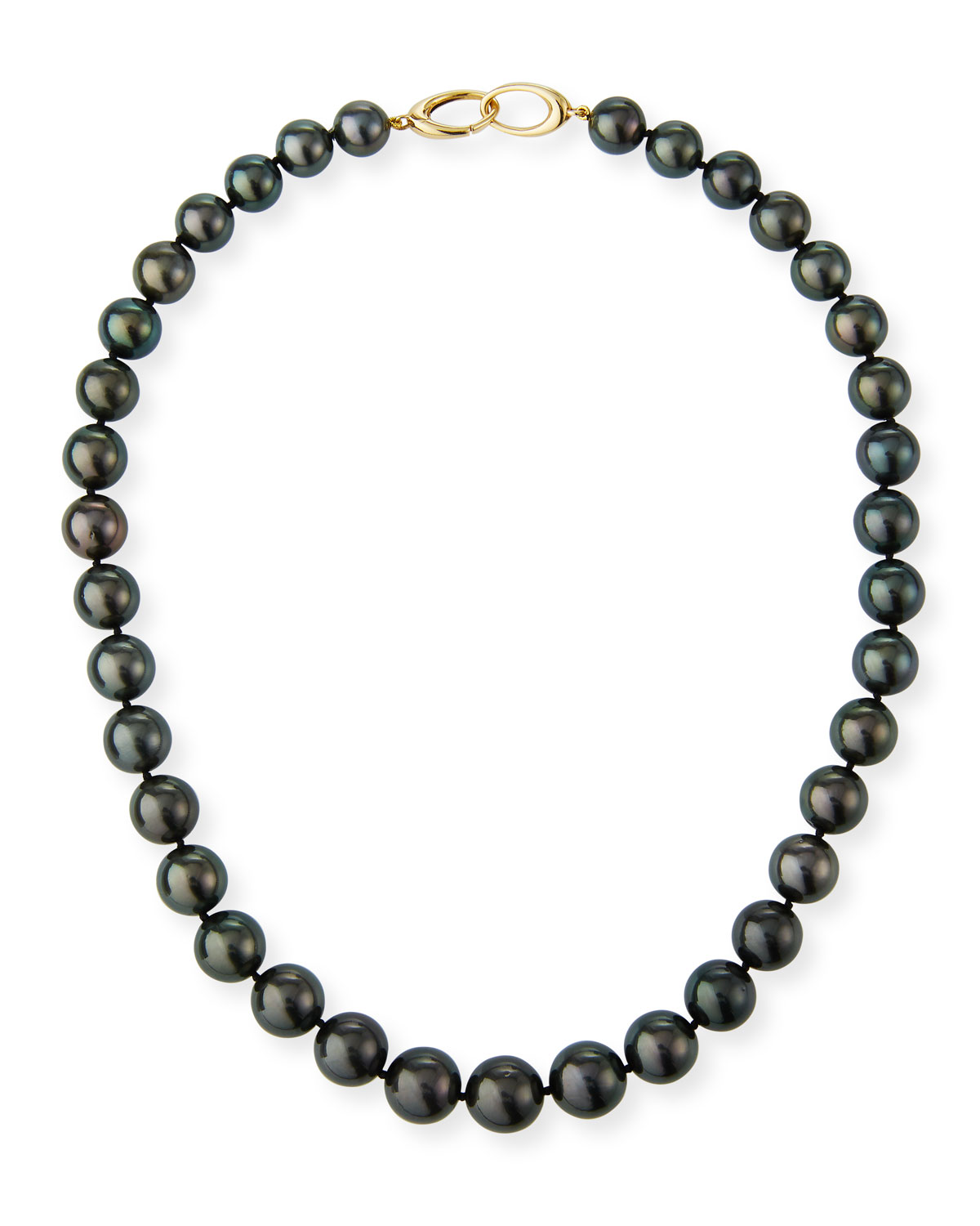 Tahitian Natural Color Cultured Pearl Necklace