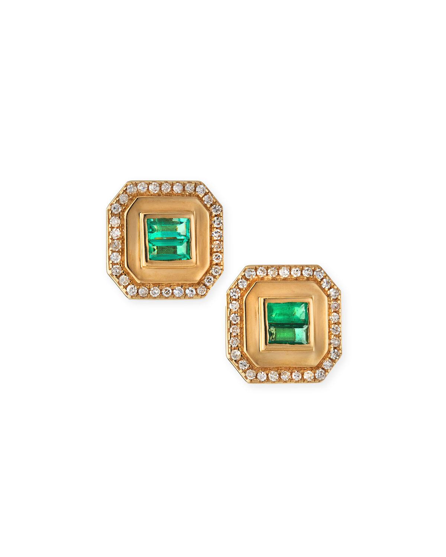 Champion Emerald Stud Earrings