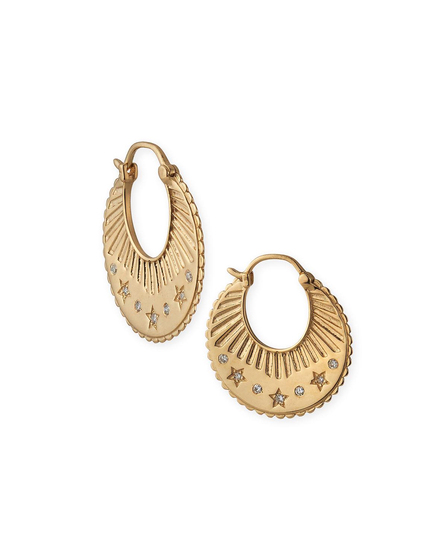 Gypsy Small Celestial Hoop Earrings