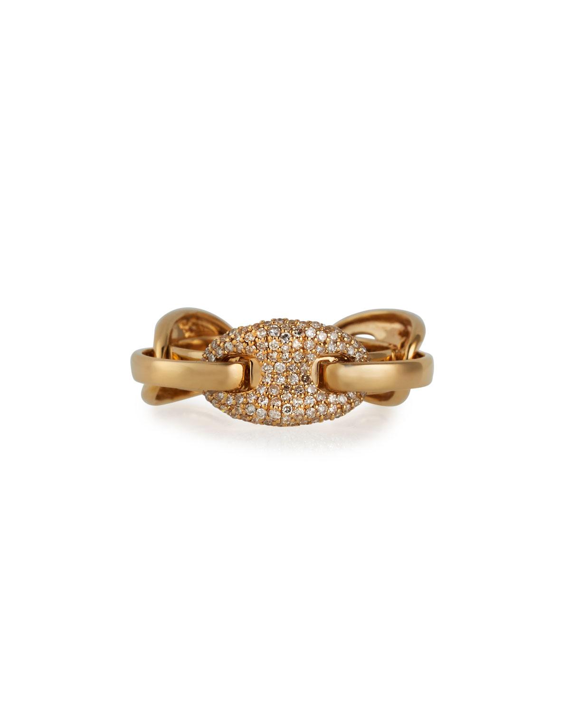 Ankaliazo Mariner Puff Diamond Link Ring