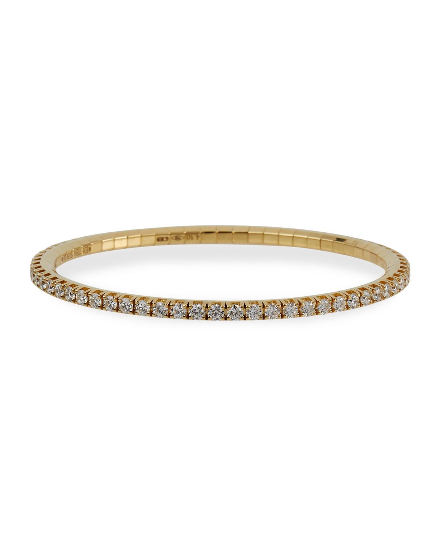 18k Round Diamond Stretch Tennis Bracelet