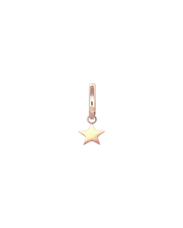 14k Rose Gold Star Hoop Earring