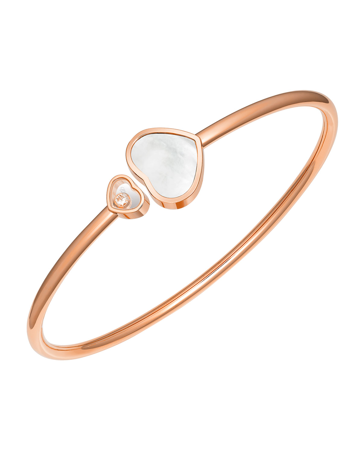 Happy Heart Diamond and Mother-of-Pearl Bracelet