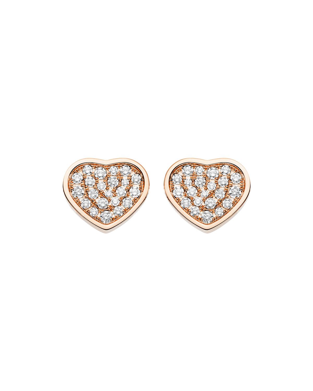 Happy Hearts Diamond Stud Earrings