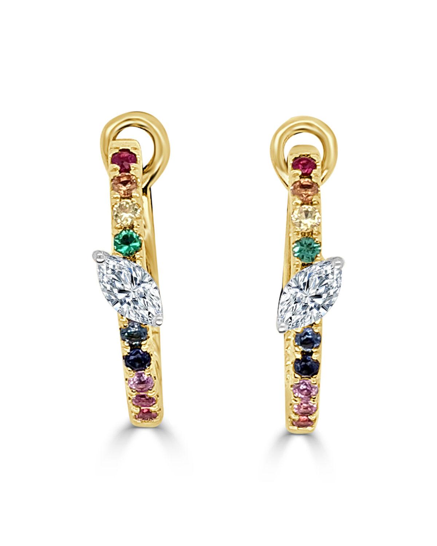 Medium Slanted Marquise Earrings