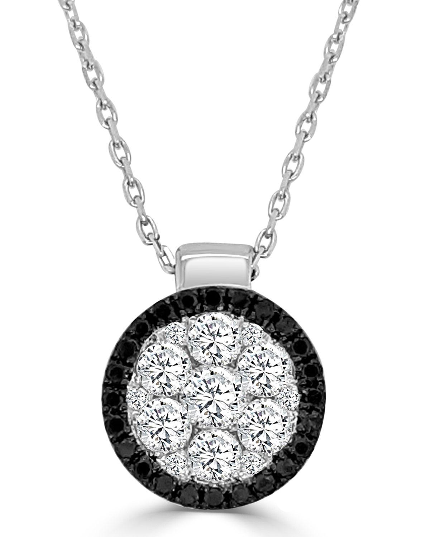 Round Firenze II Black and White Diamond Necklace