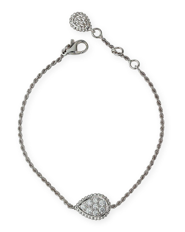 18k White Gold Serpent Boheme Motif Diamond Bracelet