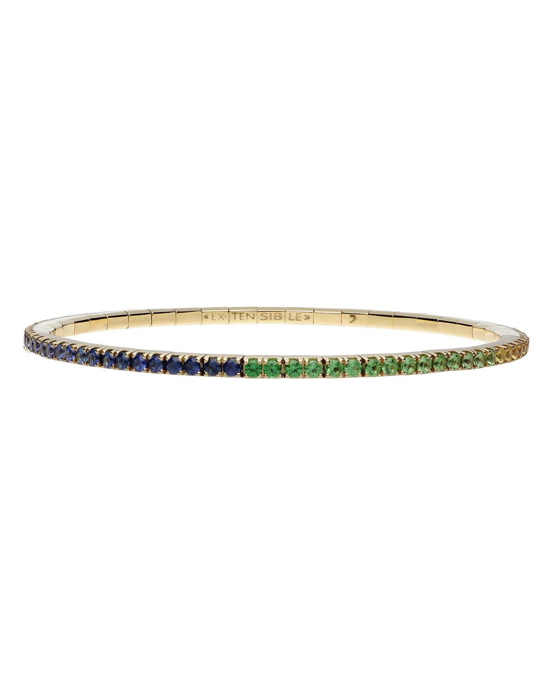 Rainbow Sapphire Stretch Tennis Bracelet