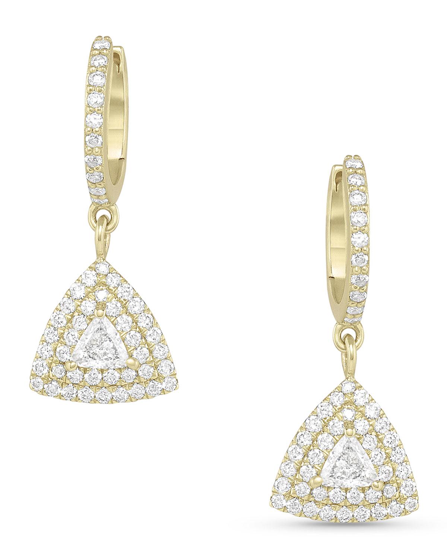 Trillion Diamond Drop Earrings