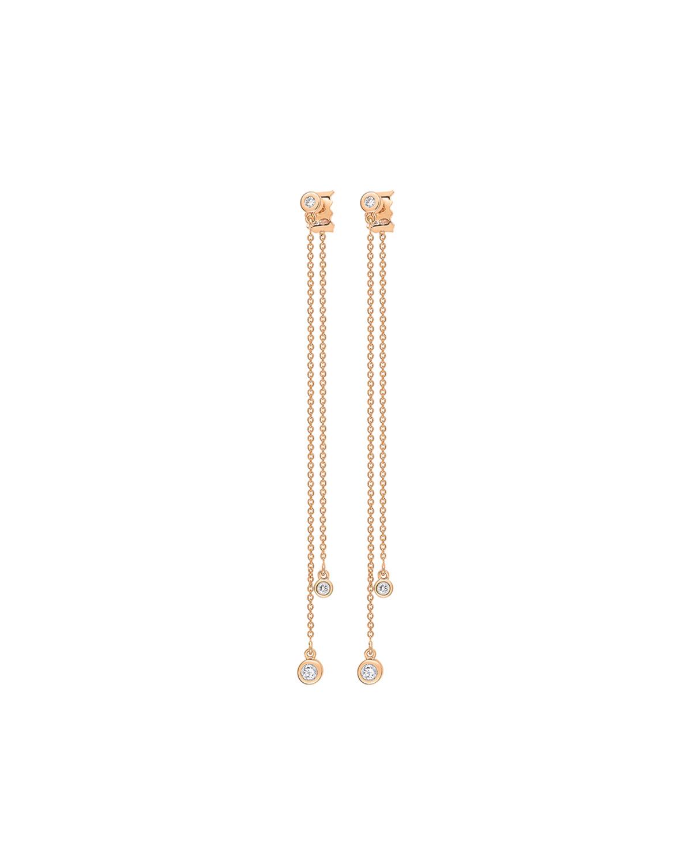 Double Lonely Diamond Earrings