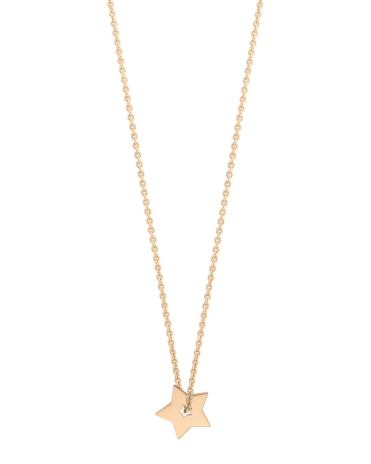 Mini Open Star on Chain Necklace