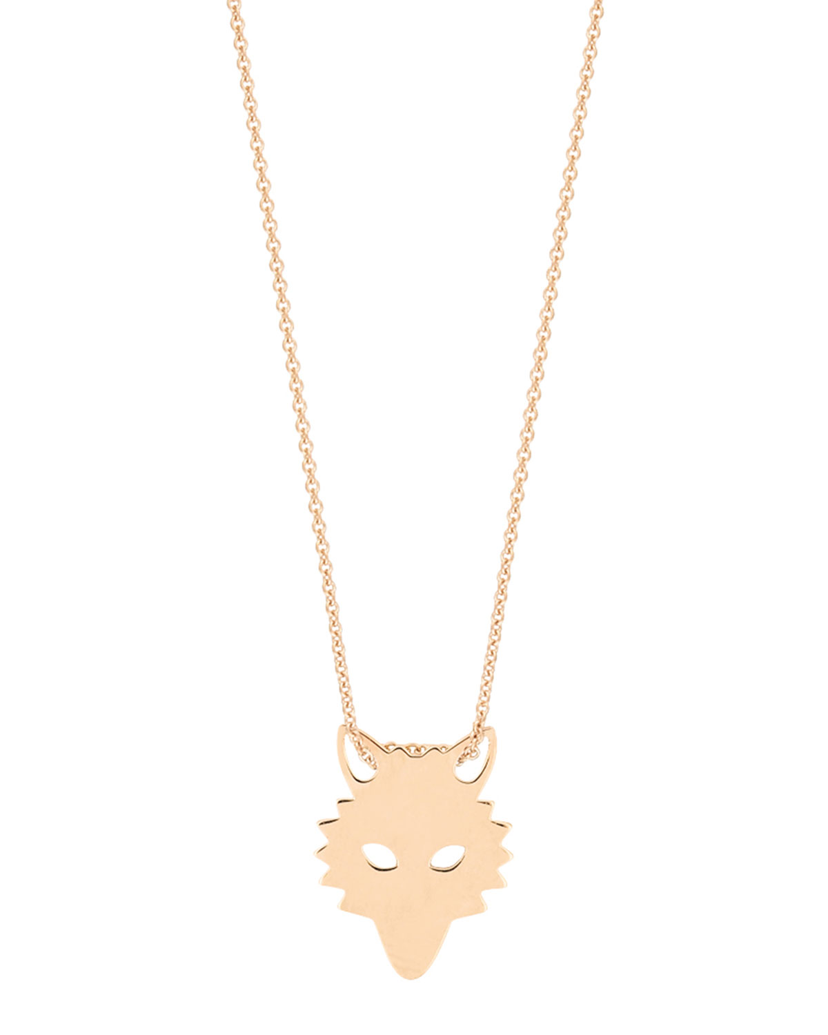 Mini Wolf on Chain Necklace