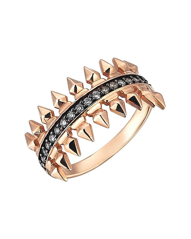 Champagne Diamond Single Row Arrow Ring
