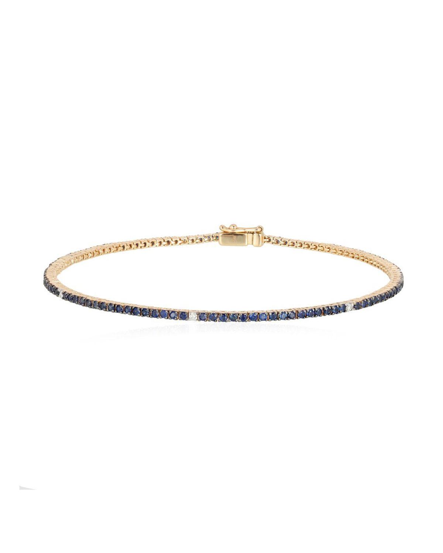 14k Sapphire Tennis Bracelet