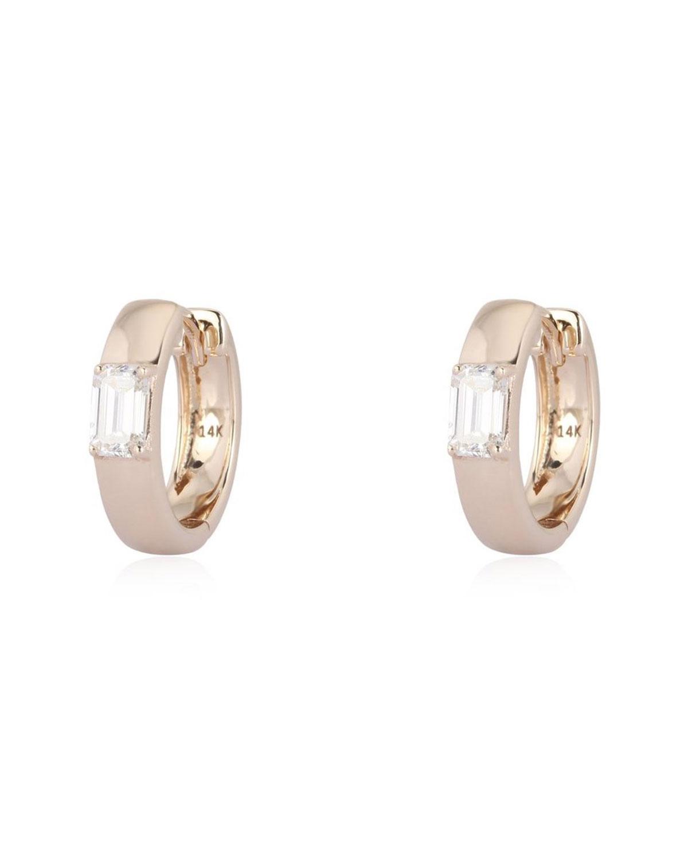 Gypsy Baguette Diamond Earrings