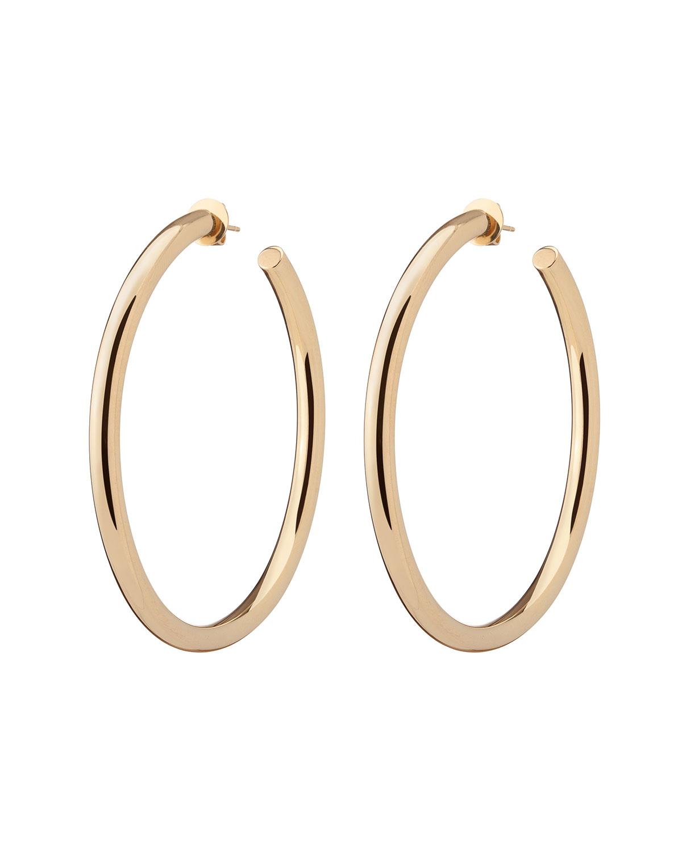 14k Yellow Gold Santorini Hoop Earrings