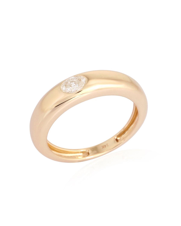 Gypsy Oval Diamond Ring