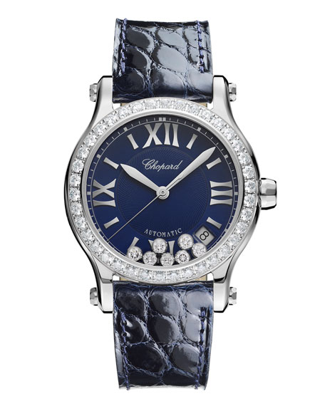 Chopard 36 mm Happy Sport Automatic Watch with Diamonds
