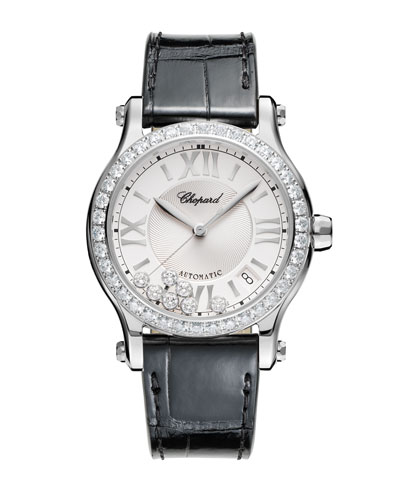 30mm Happy Sport Automatic Watch with Diamonds