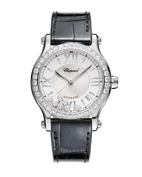 Chopard 36 mm Happy Sport Watch with Diamonds