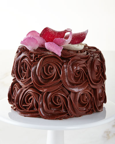 Chocolate Rose Cake, For 8-10 People