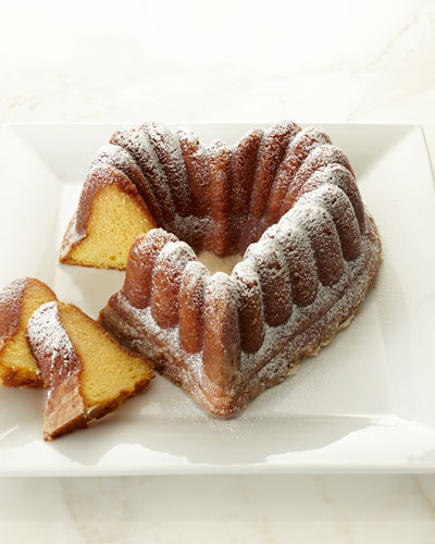 Heart-Shaped Rum Cake