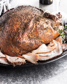 Smoked Black-Pepper Turkey, For 10 People