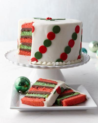Polka-Dot Peppermint Cake