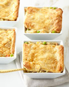 Chicken Pot Pies, For 4 People