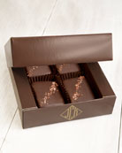 John Kelly Chocolates 4-Piece Semi-Sweet Chocolate Truffle Fudge