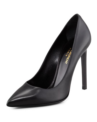 Paris Calfskin Pump, Black