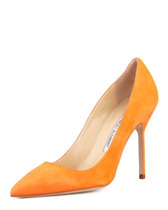 BB Suede High-Heel Pump, Orange