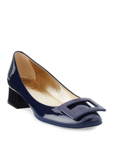 Belle de Nuit Patent Pumps, Navy