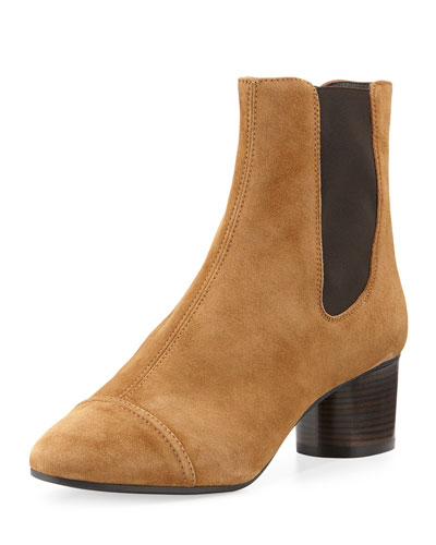 Danae Suede 50mm Chelsea Boot, Brown
