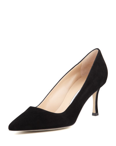 BB Suede 70mm Pump, Black