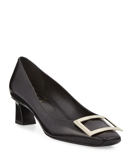 Roger Vivier Trompette Leather 45mm Pumps, Black