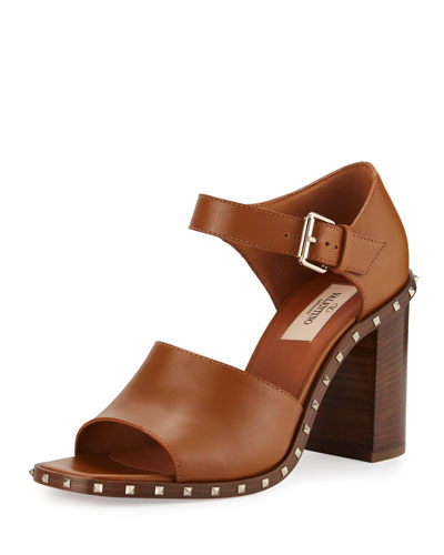 Soul Rockstud Mary Jane 90mm Sandal, Bright Cuir
