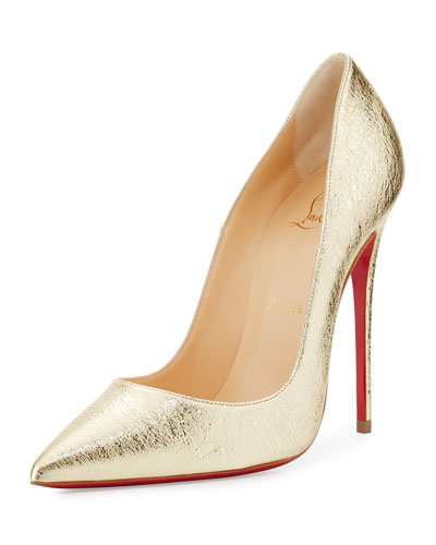 So Kate Metallic 120mm Red Sole Pump, Gold